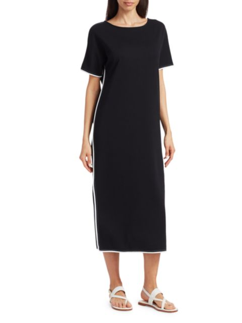 Joan Vass Split Caftan Dress | SaksFifthAvenue