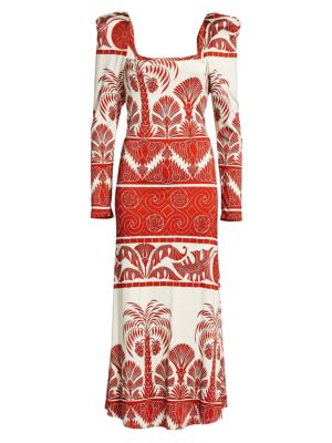 Johanna Ortiz Paint The Universe Midi Dress