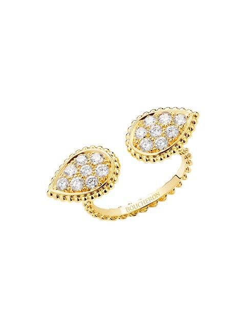Serpent Bohème 18K Yellow Gold & Diamond S Motif Ring