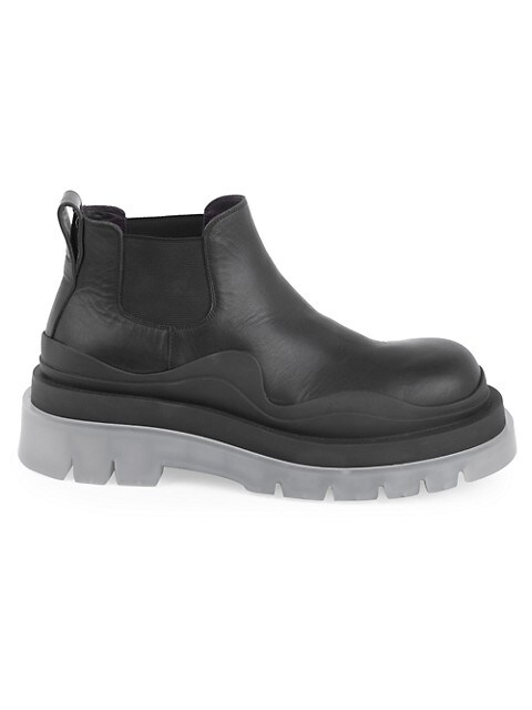 Tire Leather Chelsea Boots