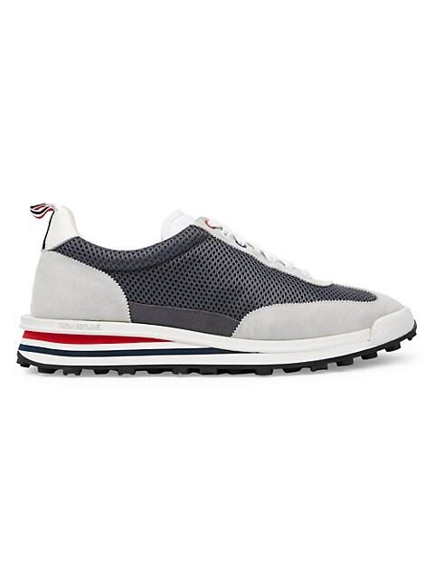 Tech Mixed-Media Sneakers