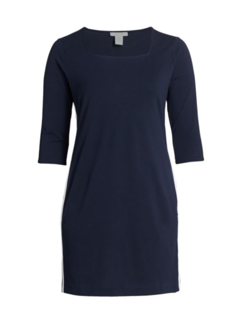 Joan Vass, Plus Size Racing Stripe Dress | SaksFifthAvenue