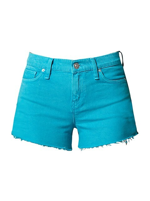 Gemma Mid-Rise Cut-Off Denim Shorts