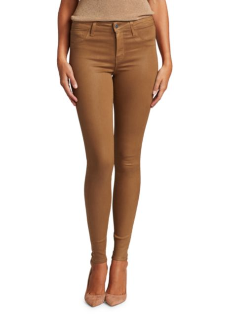 L'Agence Marguerite High-Rise Skinny Coated Jeans | SaksFifthAvenue