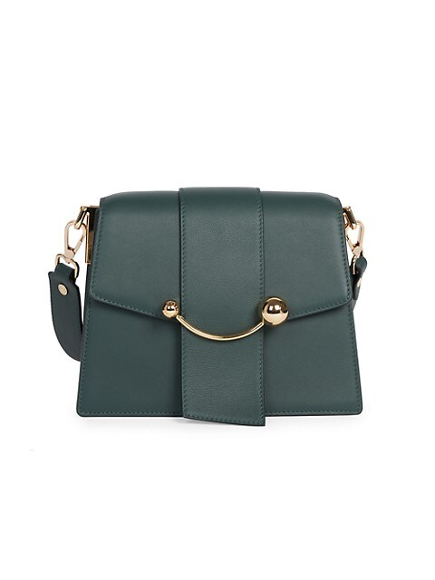 Box Crescent Leather Shoulder Bag