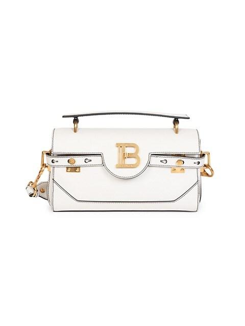 B-Buzz Leather Baguette Satchel