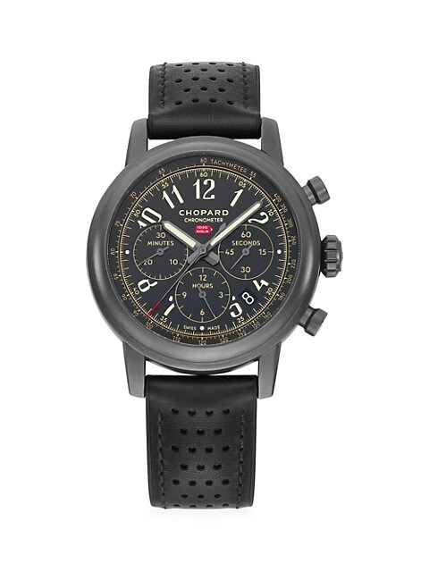 Mille Miglia Limited Edition Stainless Steel & Leather Strap Chronograph Watch