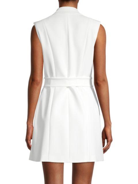 Jay Godfrey Kitty Tie Sleeveless Blazer Dress   SaksFifthAvenue