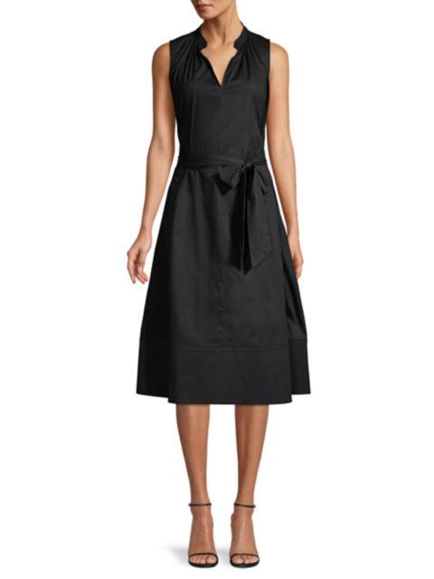 Natori Cotton Poplin Mandarin Dress   SaksFifthAvenue