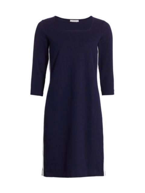 Joan Vass Petite Side Stripe Sheath Dress   SaksFifthAvenue