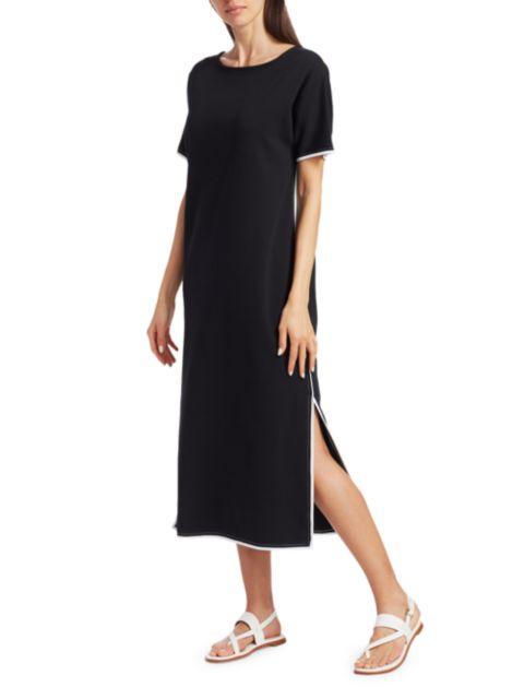 Joan Vass Petite Cotton Midi Dress | SaksFifthAvenue