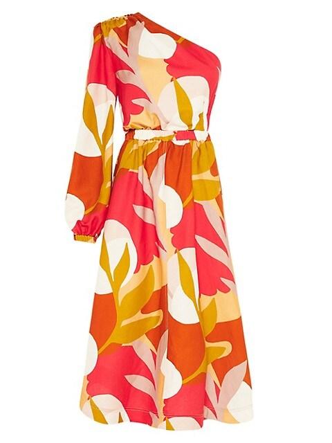 Sangria One-Sleeve Midi Dress