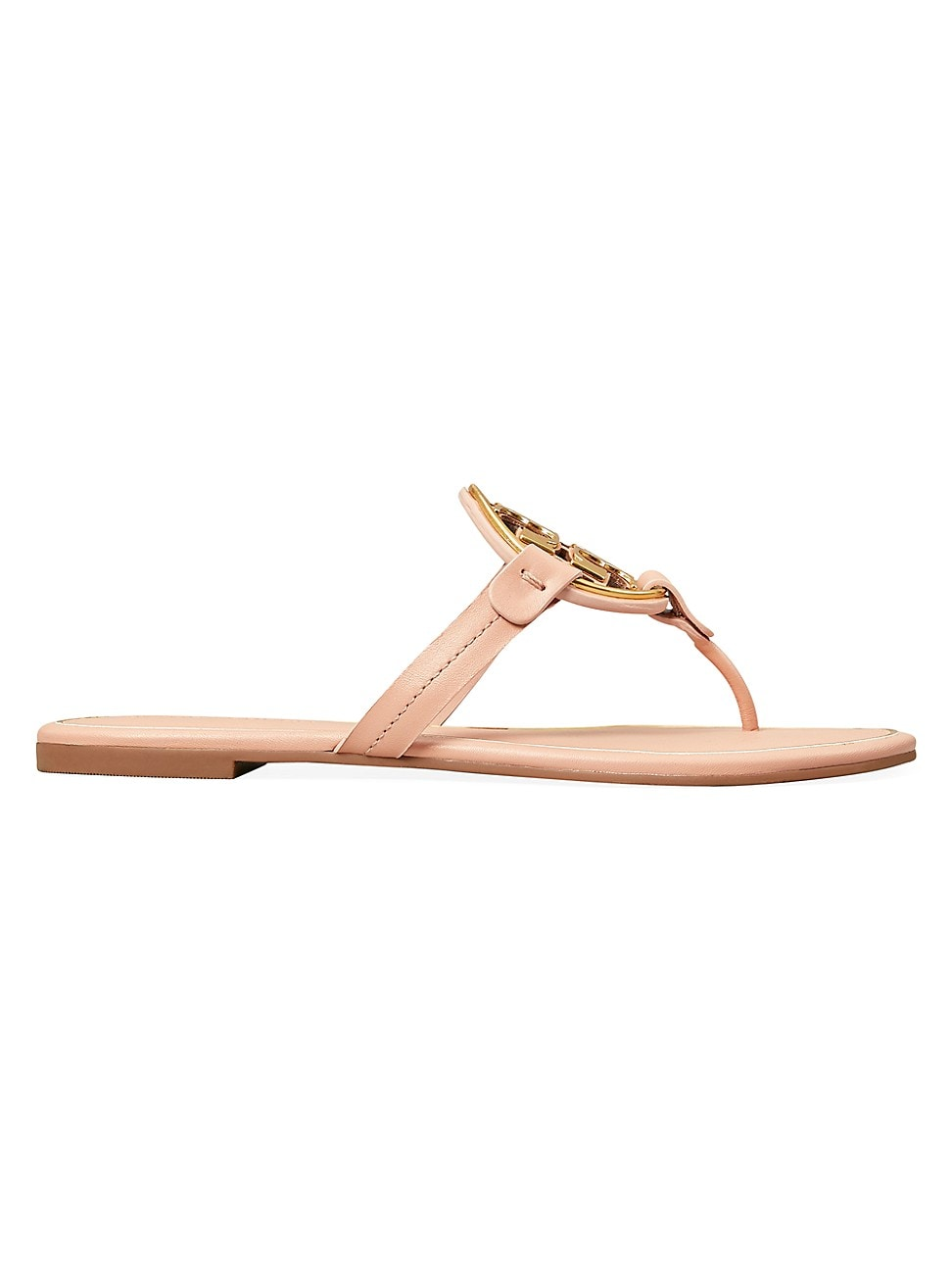 TORY BURCH WOMEN'S MILLER METAL LEATHER THONG SANDALS