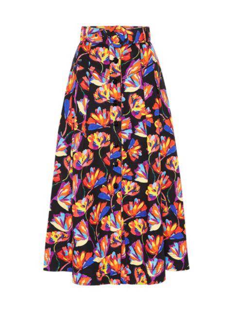 Rebecca Vallance Cintia Linen-Blend Skirt   SaksFifthAvenue