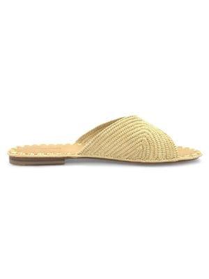 Carrie Forbes Women's Salon Raffia Slide Sandals In Natural