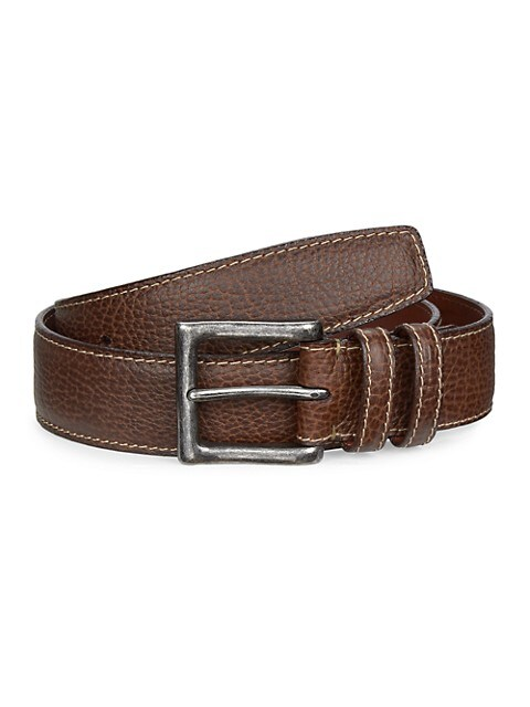 COLLECTION Saddle Stitch Leather Belt