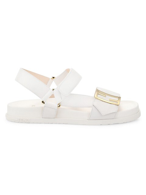 Promenade FF Flat Leather Sandals