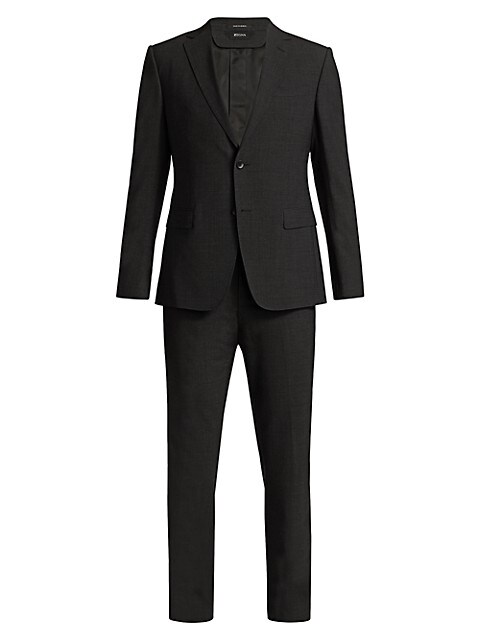 Wool & Mohair Solid Suit