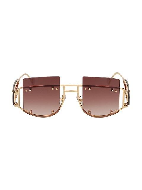Antisocial 47MM Geometric Sunglasses