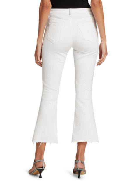 L'Agence Kendra Cropped Flare Jeans | SaksFifthAvenue