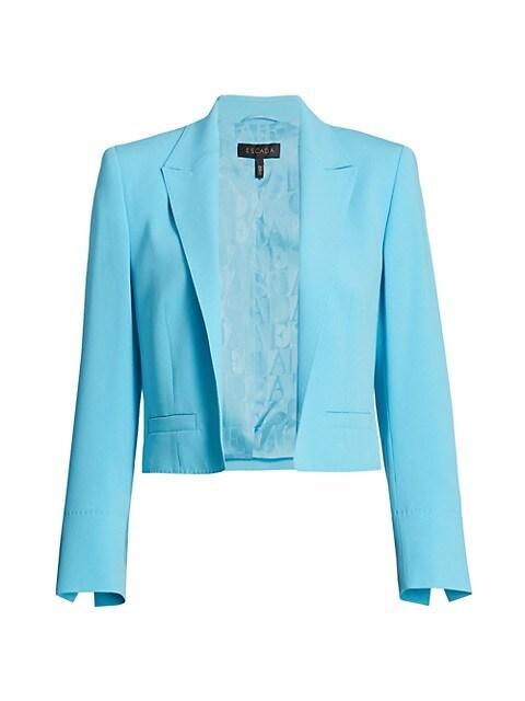 Bolli Cropped Crepe Jacket