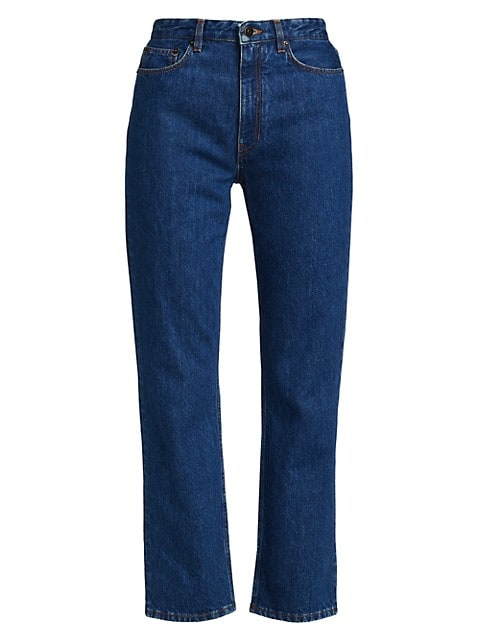 Christie Cropped Straight-Leg Jeans