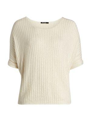 Nic + Zoe, Plus Size Women's Glow For It Sweater In Neutrals