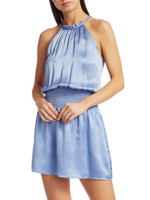 Parker Judith Smocked Silk Dress   SaksFifthAvenue