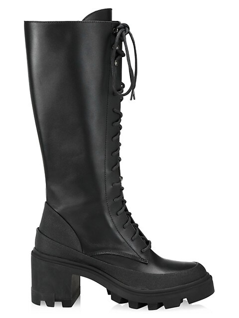 C Lug-Sole Tall Leather Boots