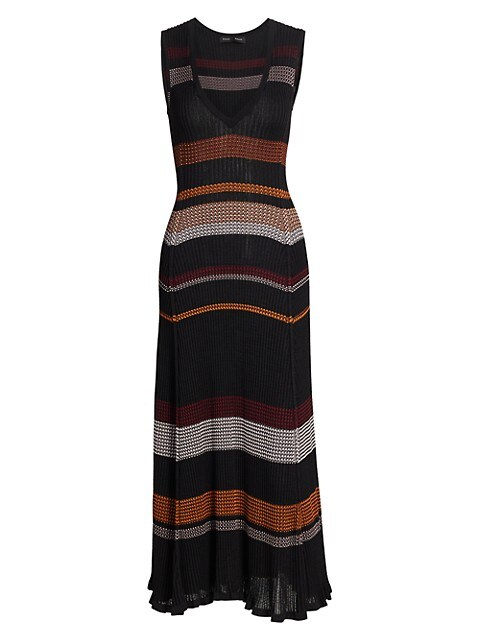 Zig-Zag Knit Midi Dress