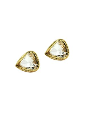Ila Women's Irina 14k Yellow Gold & Diamond Stud Earrings