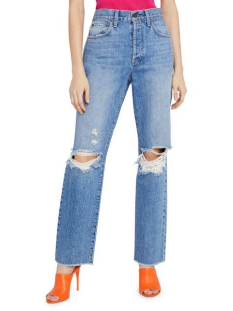Alice + Olivia Jeans Amazing High-Rise Boyfriend Jeans | SaksFifthAvenue