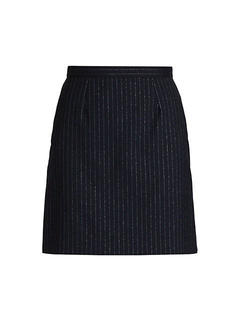 Metallic Pinstripe Mini Skirt