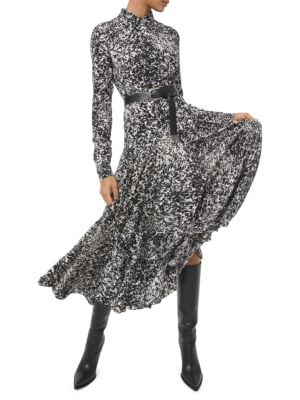 Michael Kors Belted Silk Shirtdress