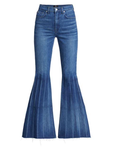 7 For All Mankind High-Rise Mega-Flare Jeans | SaksFifthAvenue