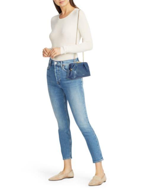 Demellier Mini Florance Leather Clutch | SaksFifthAvenue