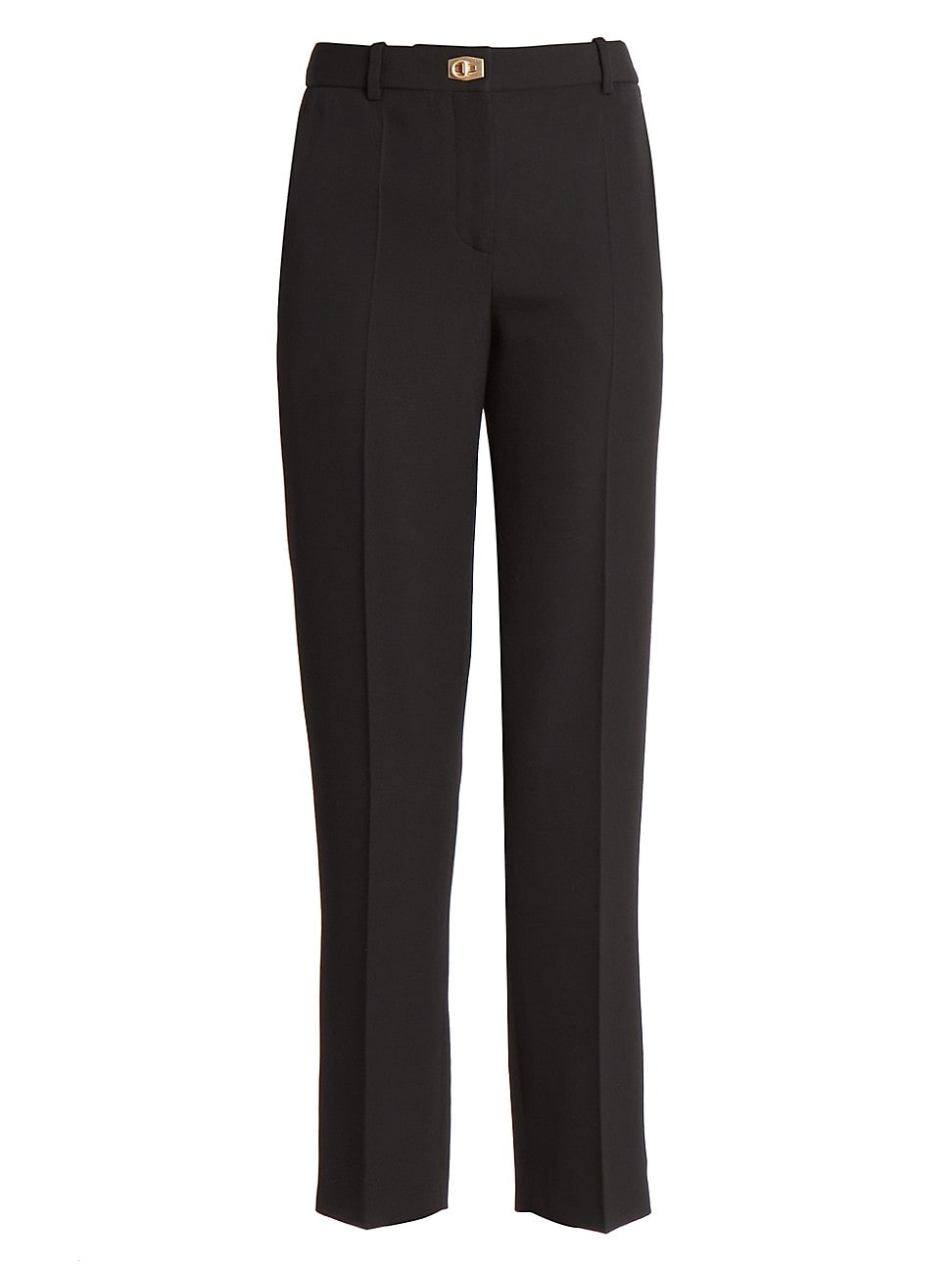 Givenchy Women's Wool Cigarette Trousers In Black
