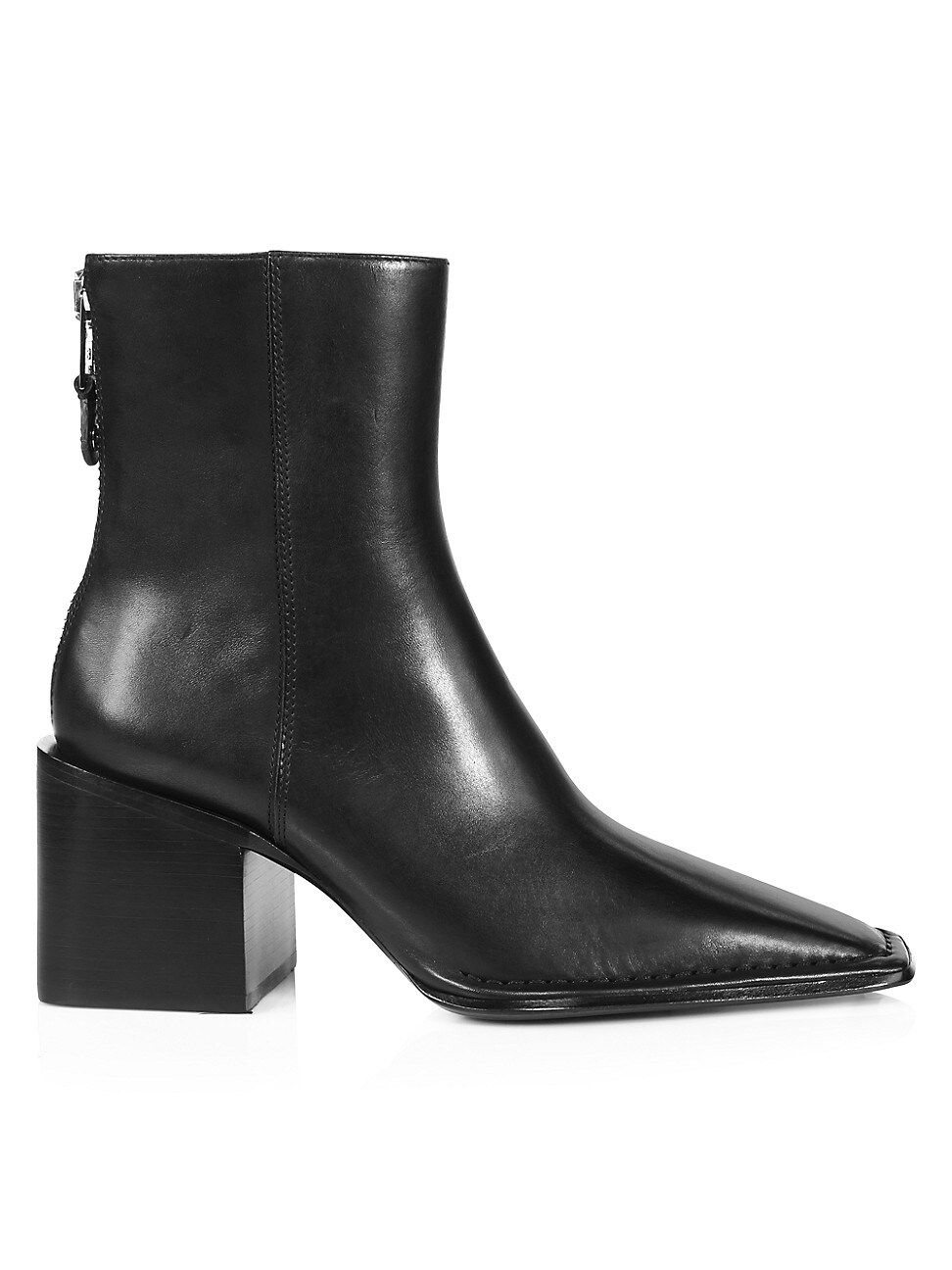 Alexander Wang WOMEN'S PARKER SQUARE-TOE LEATHER ANKLE BOOTS