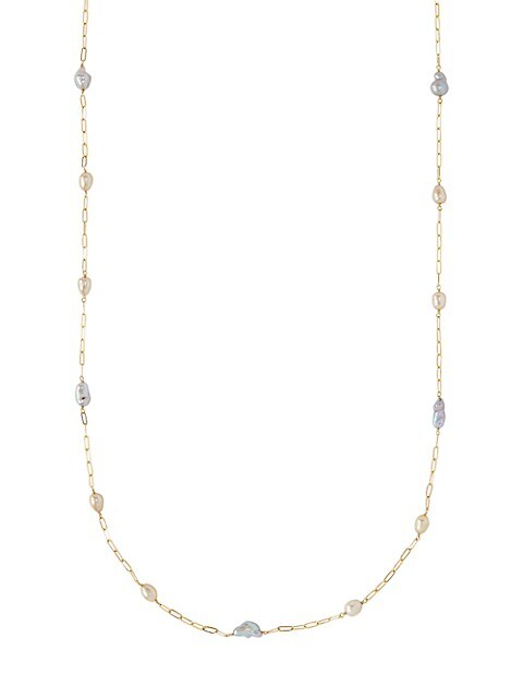 2MM-7MM Mixed Freshwater Pearl & Gemstone Necklace