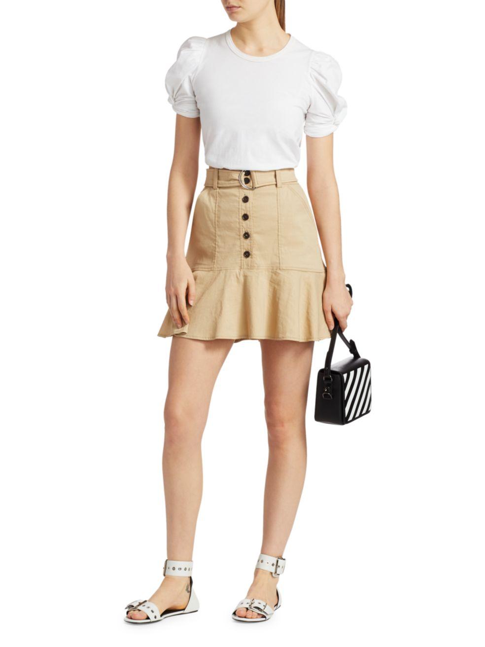 A.L.C. Miley Button-Front Flirty Skirt   SaksFifthAvenue