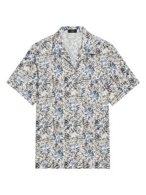 Rury Herty Summer New Mens Fashion Camouflage Printed Slim Shirt Youth Stand Collar Casual Short-Sleeved Shirt