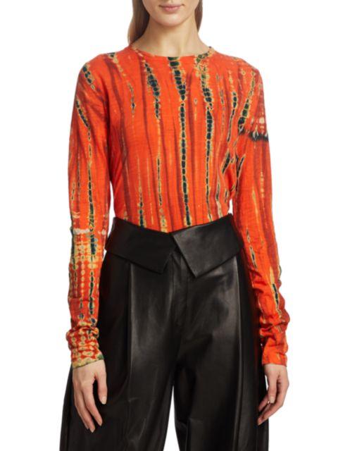Proenza Schouler Tie-Dye Tissue Shirt | SaksFifthAvenue