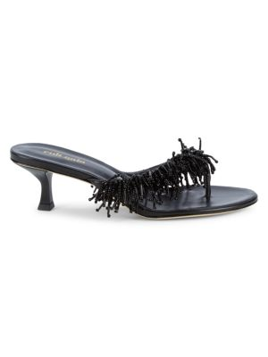 Cult Gaia Hera Leather Thong Heel Sandals