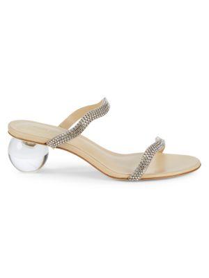 Cult Gaia Aubrey Bauble-Heel Embellished Mules