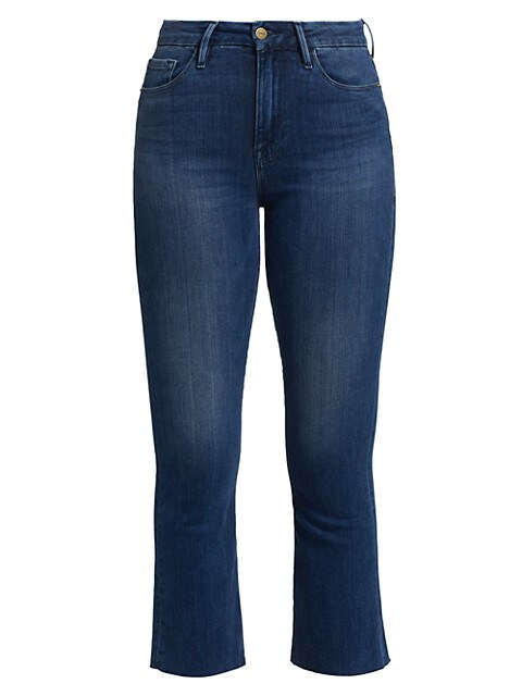 Le Crop Mini Raw-Edge Bootcut Jeans