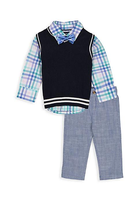 Andy /& Evan Baby Boys Quarter Zip Sweater-Infant