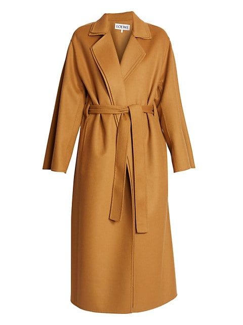 Double Layer Belted Coat