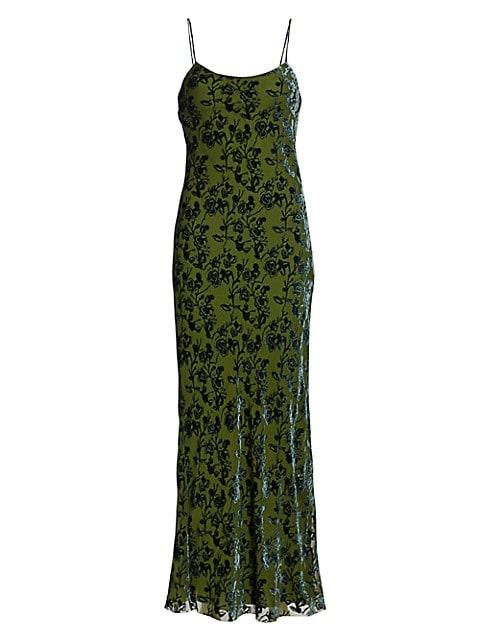 Burnout Velvet Slip Dress