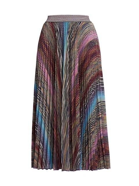 Intarsia Pleated Skirt