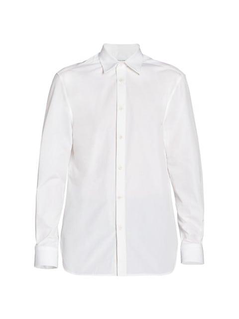 Fine Cotton Poplin Sport Shirt
